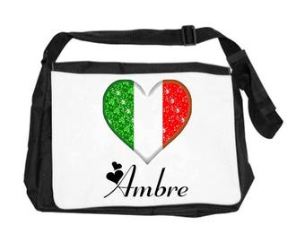 Italy bag personalized with name