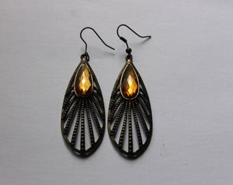 ethnic bronze earrings