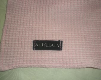 perfect personalized towel canteen - pale pink honeycomb