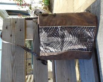 Heather Brown suedine bucket bag
