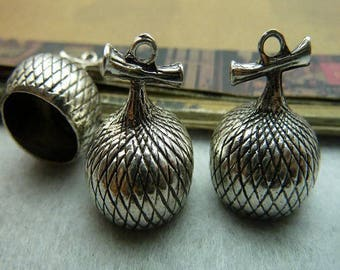 Great CAP to decorate your antique 19 * 25 mm silver glass vial