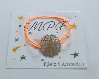 Tie cord bracelet