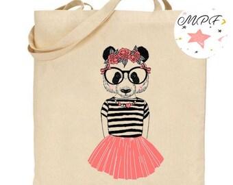 Tote bag Panda dancer