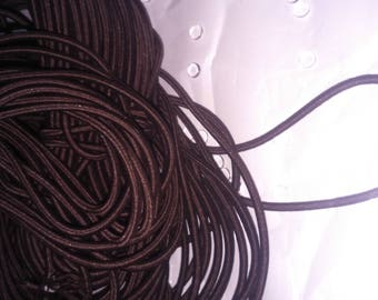 BROWN elastic cord dark 3mm