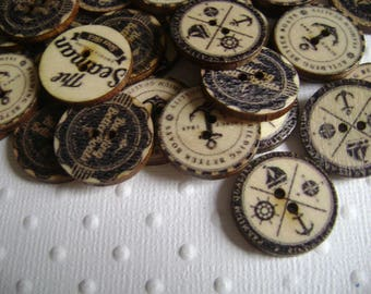Buttons vintage sailor