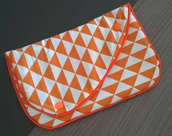 Orange and gray cotton Tablet case
