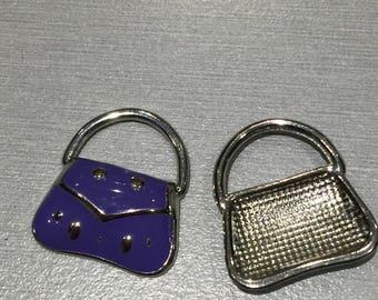 A Purple enamel purse