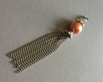 orange Pearl pendant