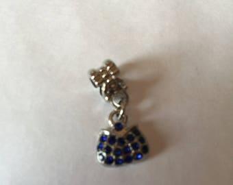 Blue rhinestone purse