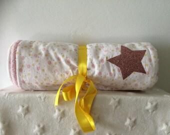 changing mat portable pink polka dots and yellow