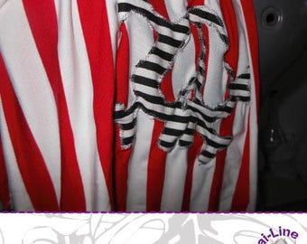 SILK SCARF STRIPED RED AND SKULL 01 - WOMEN'S CLOTHING