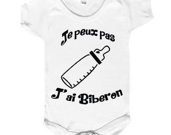 "funny baby Bodysuit ""I can't I bottle"""