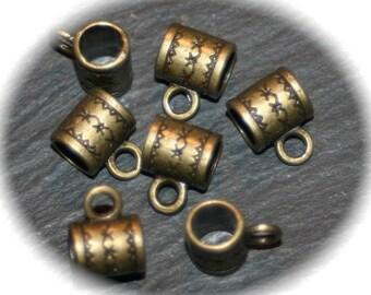 20 bronze spirit bails ethnic 10x8mm