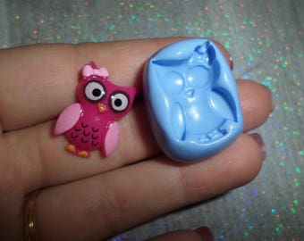 Mold funny OWL and a small knot of 2cm by 1.5 cm new!