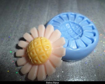 New! Mold for your polymer clay flower original 3cm