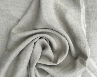 Natural  linen fabric , stonewashed linen, 100% pure linen from Lithuania, prewashed and softened linen fabric , all-purpose