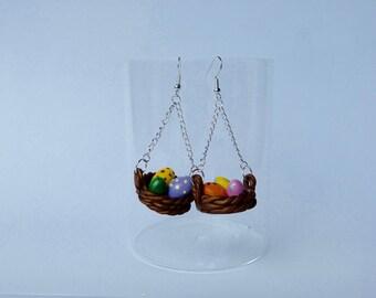 """Easter basket"" earrings"
