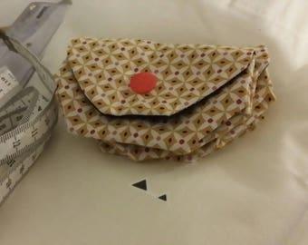 Original origami and fabric purse