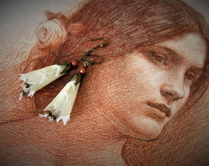 Fairy in scroll earrings
