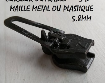 Number 5 clip-on for Metal or plastic 5.8 mm mesh slider