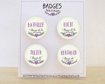 Custom badges Bohemian 3.8 cm / name