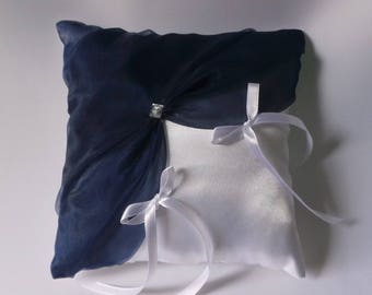 Navy Blue ring bearer pillow