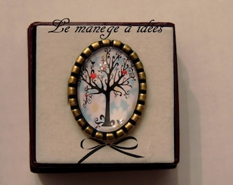 """""""The tree of LES ZAMOURS"""" metal Adjustable ring bronze."""