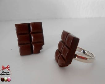Ring plate of chocolate