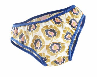 Panties girl Liberty Bosphorus blue elastic band from 2 to 10 years