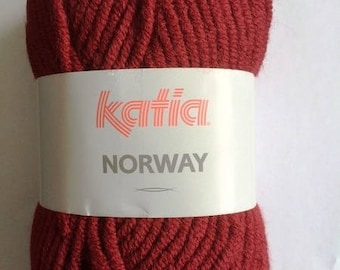 wholesale wire Norway from Katia No. 20 Burgundy colors