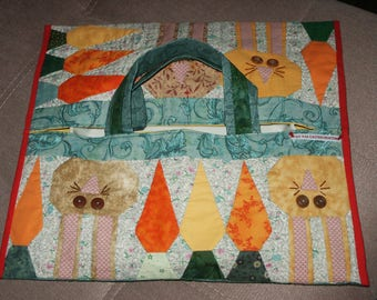 bag pie for Easter, Bunny and carrots applique