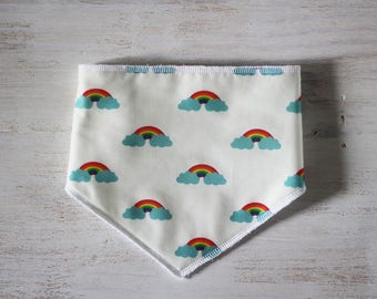 Bandana bib in Rainbow