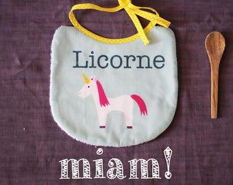 Unicorn design bib