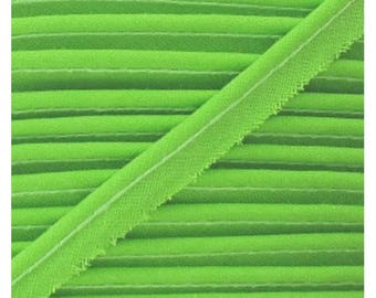 LIME green / plain cotton piping 10mm wide, cut 50 cm