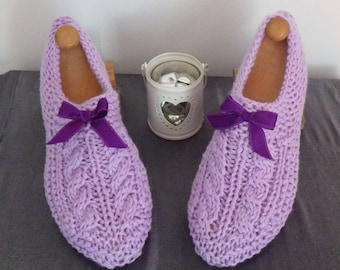 Slippers adult woman purple twisted 37/38