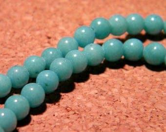 jade 4 mm natural gemstone - turquoise - gemstone - J3 20 beads