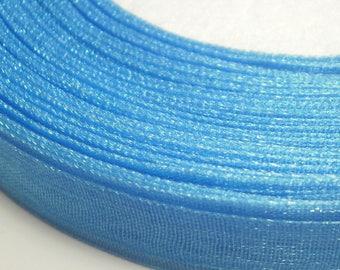 10 m 10 mm turquoise blue organza Ribbon