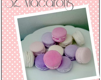 Set 32 macarons plaster tinted in the mass