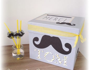 Label 12pcs moustache - mustache straw decoration round