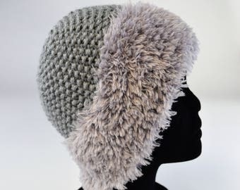 Hand knitted Grey Hat