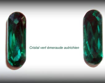 Faceted Emerald Green Austrian Crystal cabochons