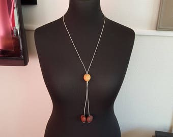 Necklace three coconut beads