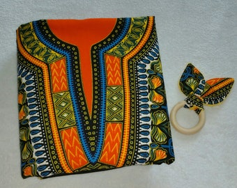 African baby fleece blanket