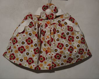 Skirt with flowers and matching headband