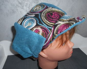 wool and fleece newsboy cap