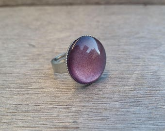 ring adjustable purple violet