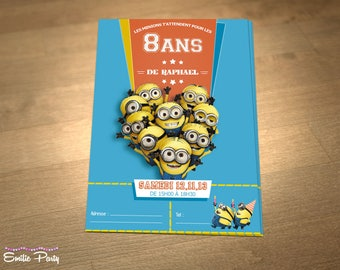 Customizable printable themed birthday invitation: Banana!