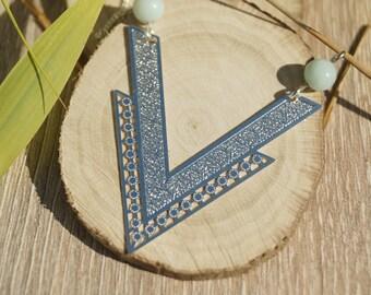Necklace charm and beads amazonites