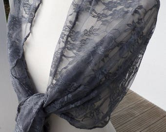 Shawl woman lace gray nice wedding party