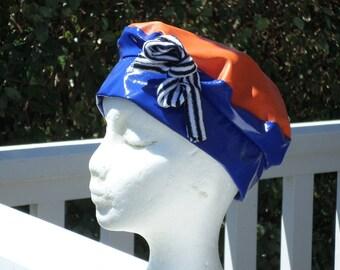 Blue and orange rain women beret Hat Cap